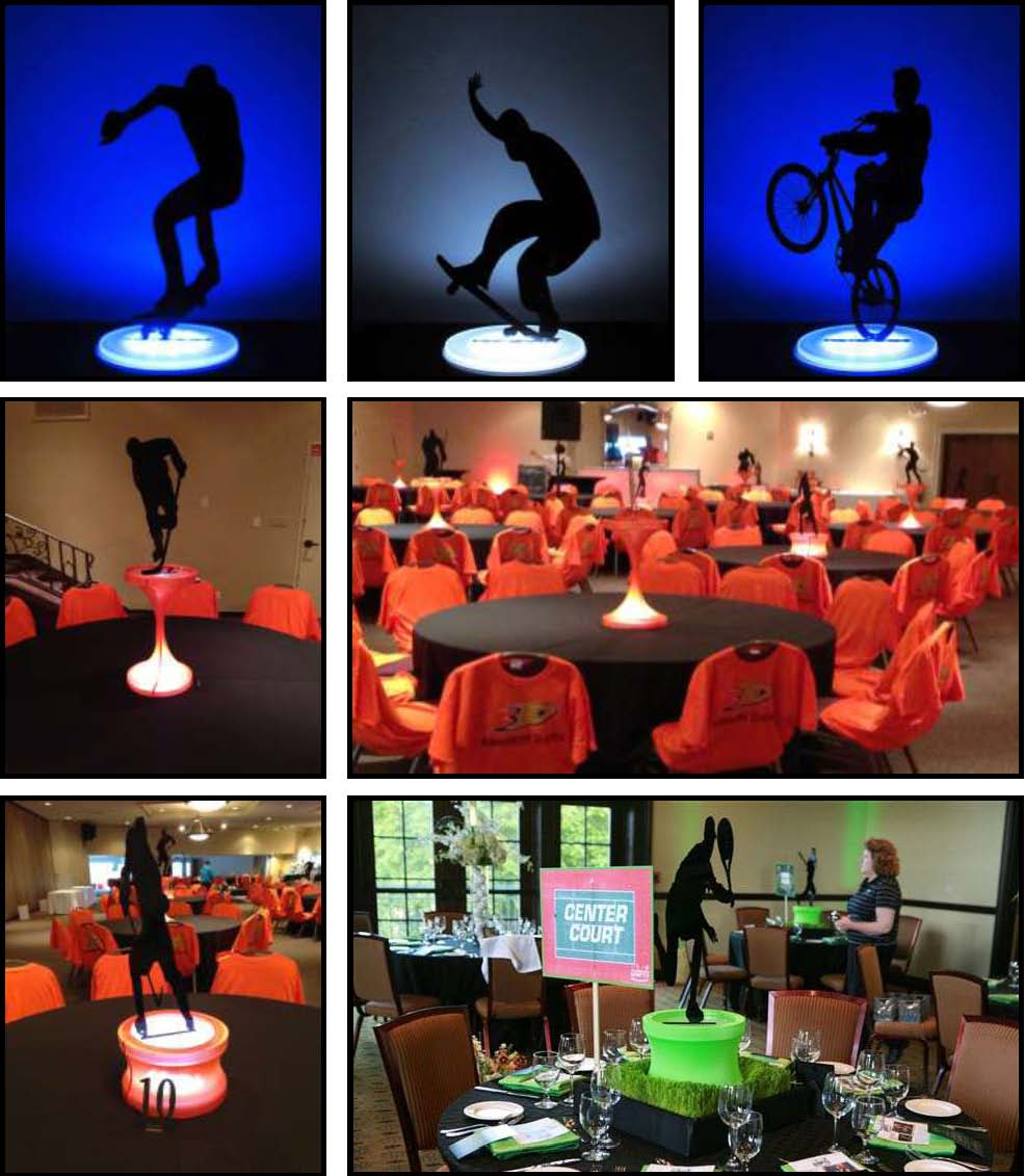 acrylic Shadow Centerpieces - Sports