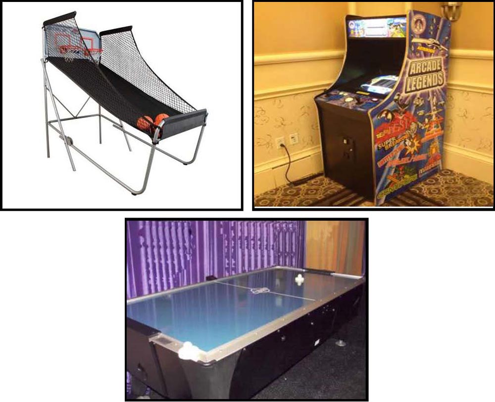 Electronic arcade Games rentals