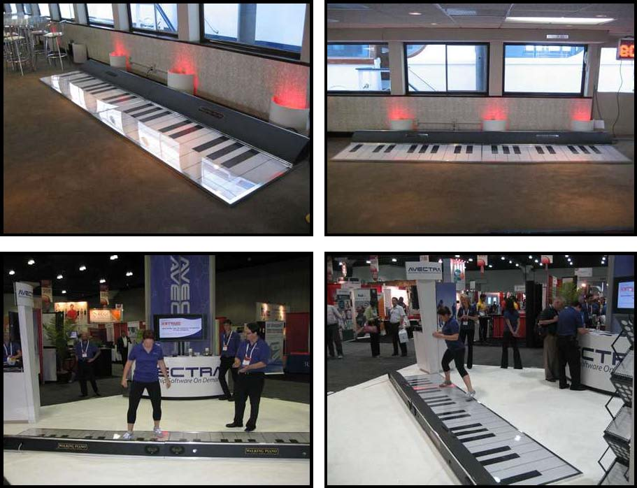 Walking Piano party events rentals