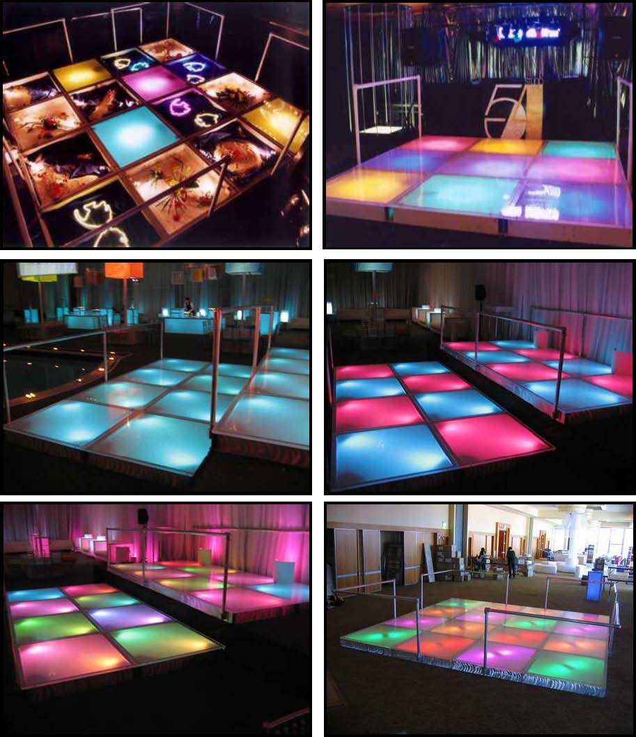 Props & Products Dance Floors - Illuminated