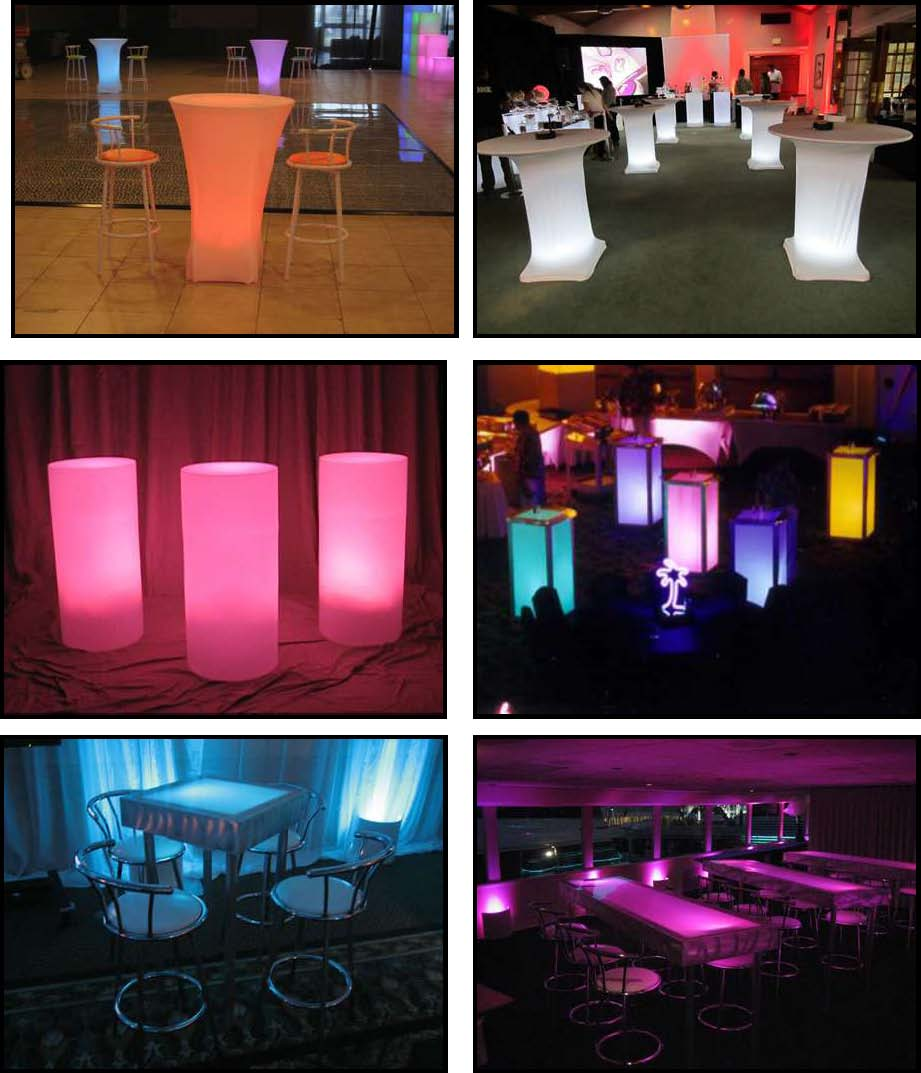 Props & Products Glowing Standup Tables