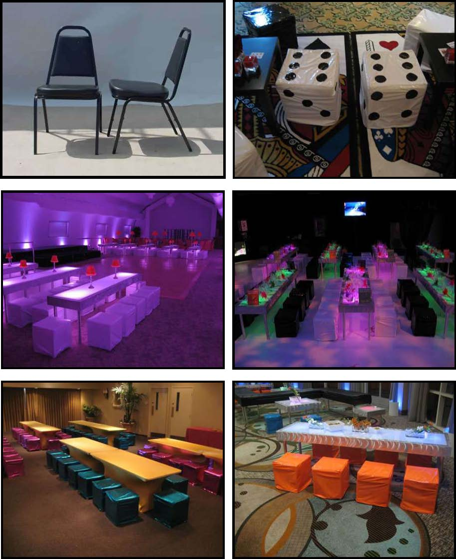 Props & Products Chairs & Cube Stools