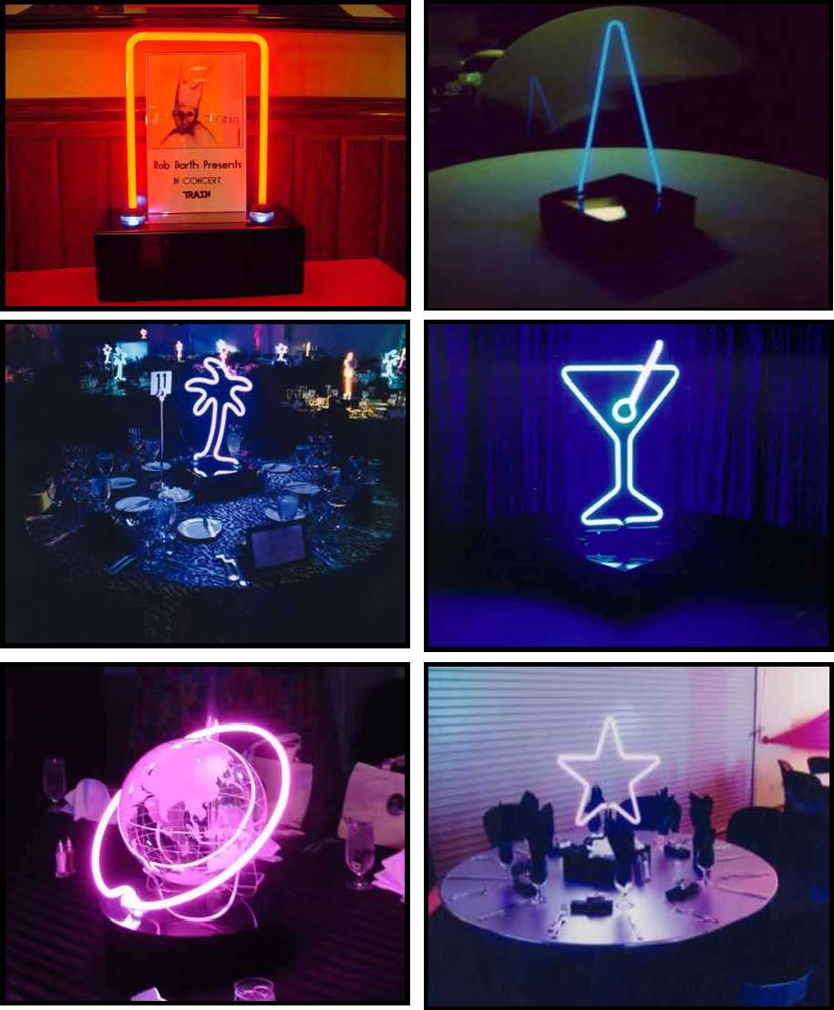 Props & Products Centerpieces - Neon